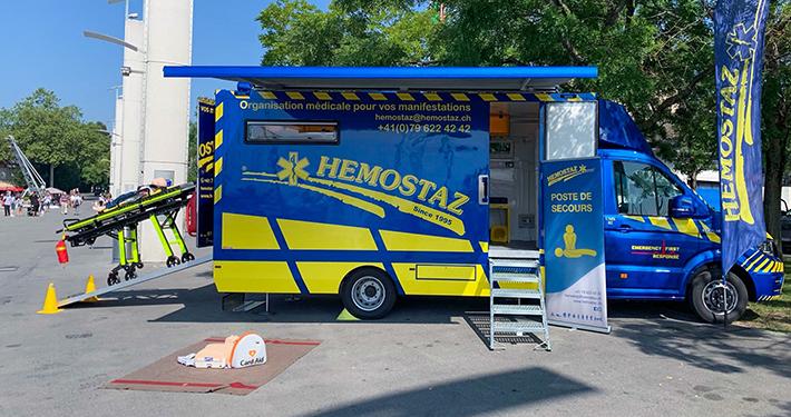 HEMOSTAZ ⎮ Poste de secours à Ouchy