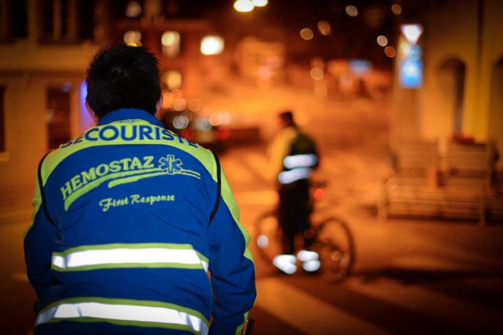 HEMOSTAZ ⎮ Patrouille en vélo dans la ville de Lausanne