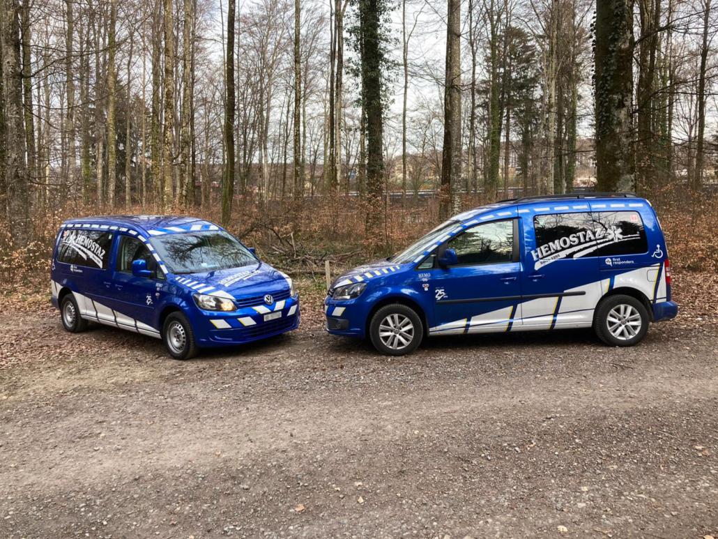 HEMOSTAZ ⎮ Nos 2 véhicules pour le service de transport de personnes à mobilité réduite